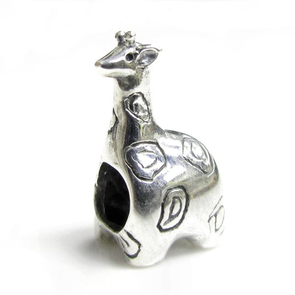 Queenberry Sterling Silver Giraffe Animal European Bead Charm