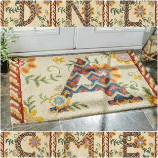nuLOOM Handmade Wool Kids Monogrammed Welcome Doormat Rug (2'3 x 3'9)