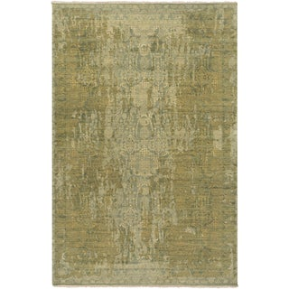 Hand-Knotted Lilia Border Wool Rug (9' x 12')