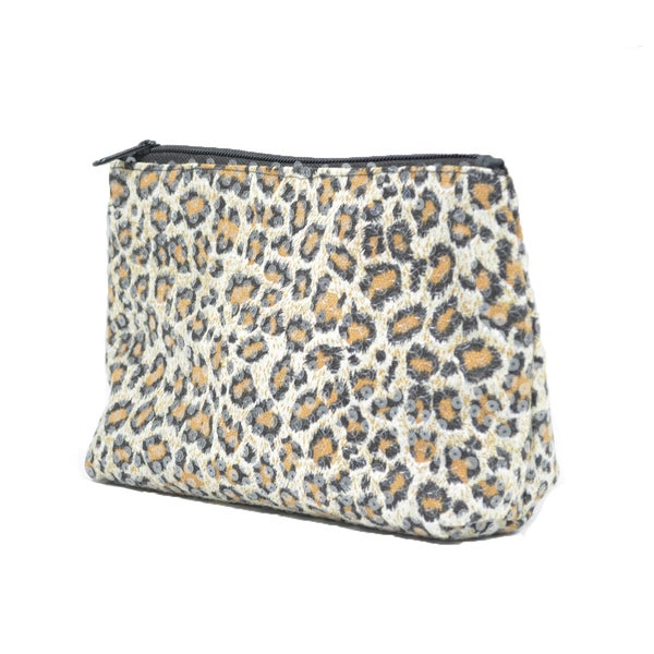 Leopard Sequin Makeup Bag
