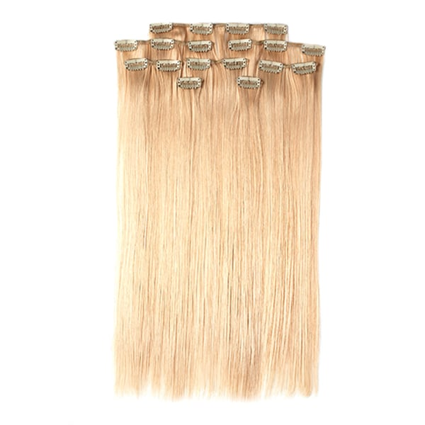 100-percent Organic Hair 23-inch 8-piece Clip-in Straight Hair Extensions