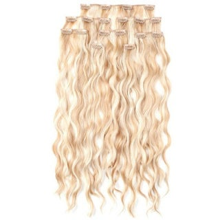 100-percent Organic 18-inch 8-piece Clip-in Body Wave Hair Extensions