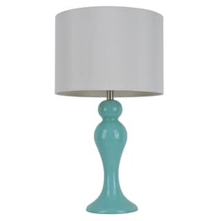 28-inch Light Blue Table Lamp