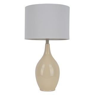 27-inch Ivory Crackle Table Lamp