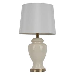 24-inch Cream Ceramic Table Lamp