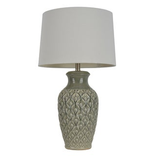 30-inch Crackle Table Lamp