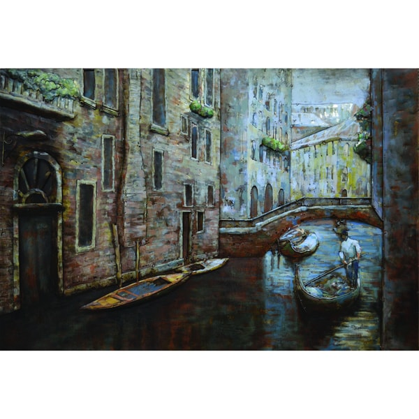 Canal Moments I Original Hand painted Wall Art