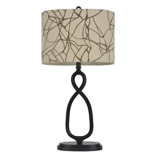 32-inch Twisted Bronze Table Lamp