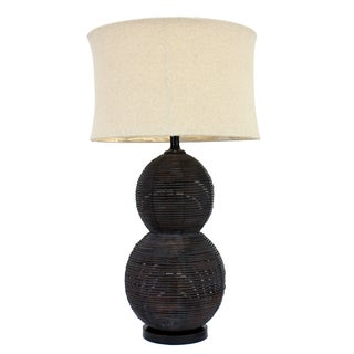 33.5-inch Double Gourd Rattan Table lamp