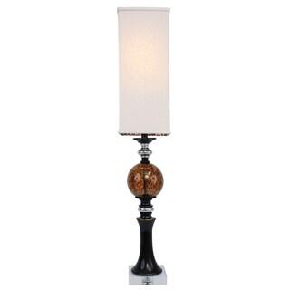 42.5-inch Tortoise Glass Table Lamp