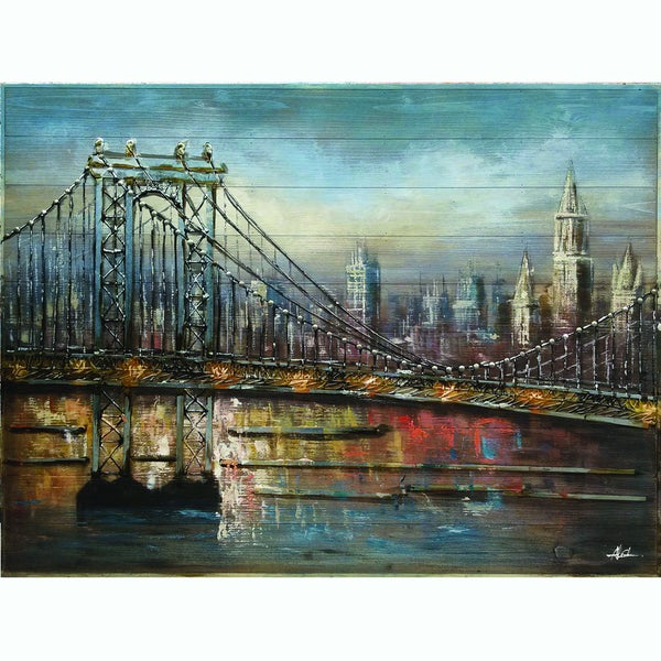 Bridge to the City Original Hand painted Wall Art