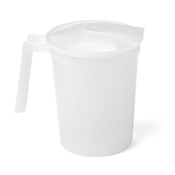 Medline Non-Insulated Clear 32-ounce Plastic Pitcher with Lid (Case of 100) 15196898
