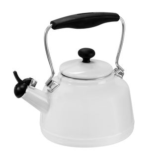 Chantal Enamel on Steel Vintage White 1.7-quart Teakettle
