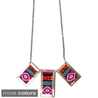 Jackson Aguayo Fabric 20-inch Necklace (Bolivia)