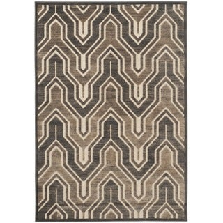 Safavieh Paradise Soft Anthracite/ Cream Viscose Rug (8' x 11'2)