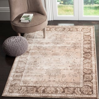 Safavieh Vintage Beige/ Light Brown Viscose Rug (9' x 12')