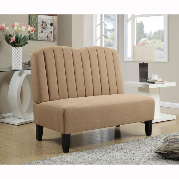 Tan Upholstered Banquette Bench 17197795 Shopping Great Deals On Sofas