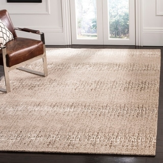 Safavieh Hand-knotted Thom Filicia Camel/ Brown Wool/ Silk Rug (8' x 10')