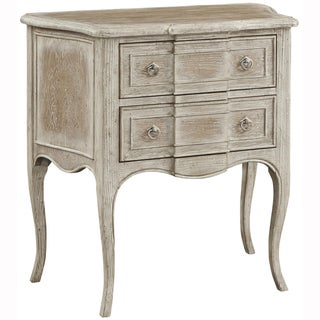 Hand Painted Distressed White Wash Finish Accent Chest