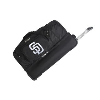 Denco Sports MLB San Diego Padres 27-inch Drop Bottom Rolling Duffel Bag