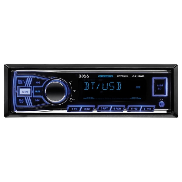 Boss 611UAB Car Flash Audio Player - iPod/iPhone Compatible - Single