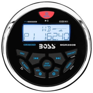 Boss Audio MGR350B Marine Gauge MECH-LESS Receiver, with Audio Stream