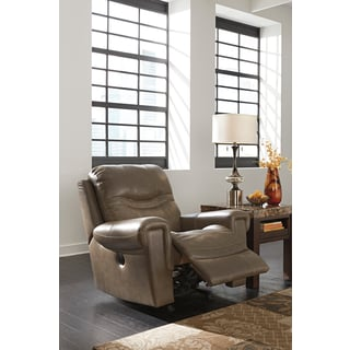 Signature Designs by Ashley Casscoe Granite Power Rocker Recliner