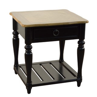 Aston Black and Oak End Table