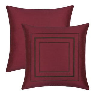 Etienne 18-inch Silk Embroidered Throw Pillow (Set of2)