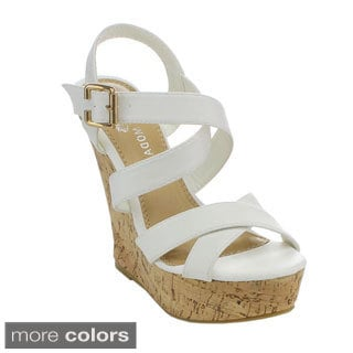 Spirit Moda AVA-1 Women's Gladiator Platform Wedges