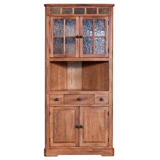 Sunny Designs Sedona Light Brown Corner China Cabinet