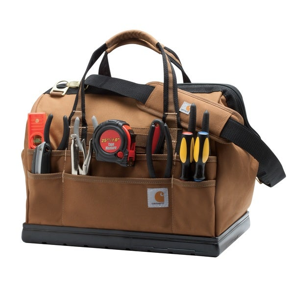 Carhartt Brown Legacy 16-inch Tool Bag with Molded Base