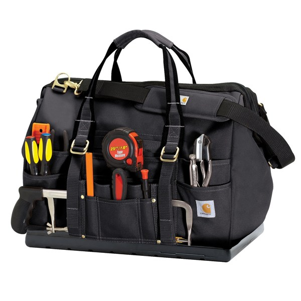 Carhartt Black Legacy 18-inch Tool Bag with Molded Base