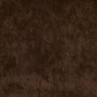 K0300C Chocolate Brown Solid Plush Stain Resistant Microfiber Velvet Upholstery Fabric by the Yard
