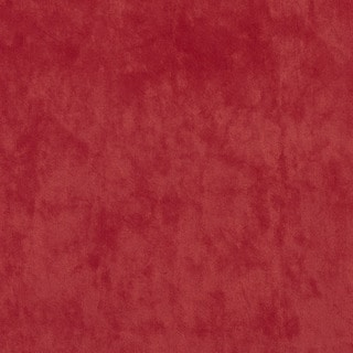 K0300N Red Solid Plush Stain Resistant Microfiber Velvet Upholstery Fabric by the Yard