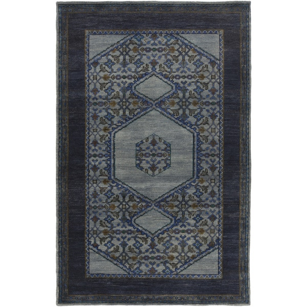 Hand-Knotted Marvin Border Wool Rug (8' x 11')