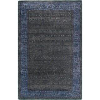 Hand-Knotted Marsha Border Wool Rug (9' x 13')
