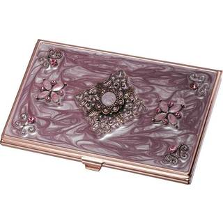 Visol Neima Lilac Marble and Copper Business Card Case