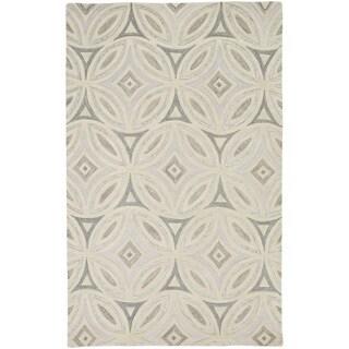 Hand-Tufted Natalee Geometric Wool Rug (8' x 11')