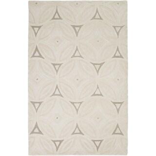 Hand-Tufted Natalee Geometric Wool Rug (9' x 13')