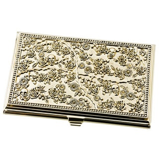 Visol Petra Solid Brass Women's Business Card Case
