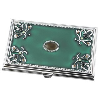 Visol Turquoise Green Business Card Holder For Women