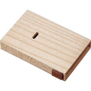 Maple Wooden Desktop Business Card Case
