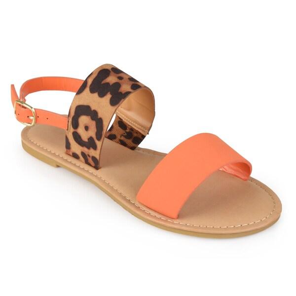 Journee Collection Women's 'Jasmine' Sling-back Flat Sandals