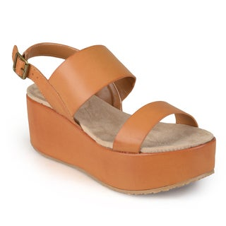 Journee Collection Women's 'Hibiscus' Sling-back Platform Wedges
