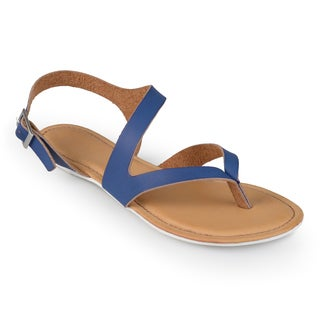 Journee Collection Women's 'Senna' Strappy Flat Sandals