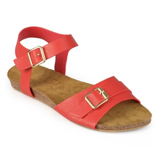 Journee Collection Women's 'Cherry' Buckle Ankle Strap Sandals