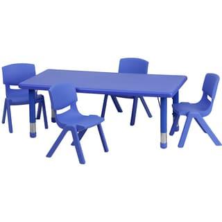 14.5-23.75-Inch Height-adjustable Plastic/ Steel Preschool Activity Table Set