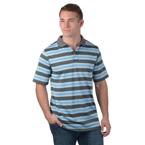 Boston Traveler Men's Striped Wicking Polo Shirt
