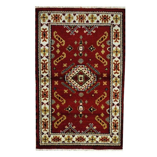 Herat Oriental Indo Hand-knotted Tribal Kazak Wool Rug (3'2 x 5'1) - 3'2 x 5'1 15203199